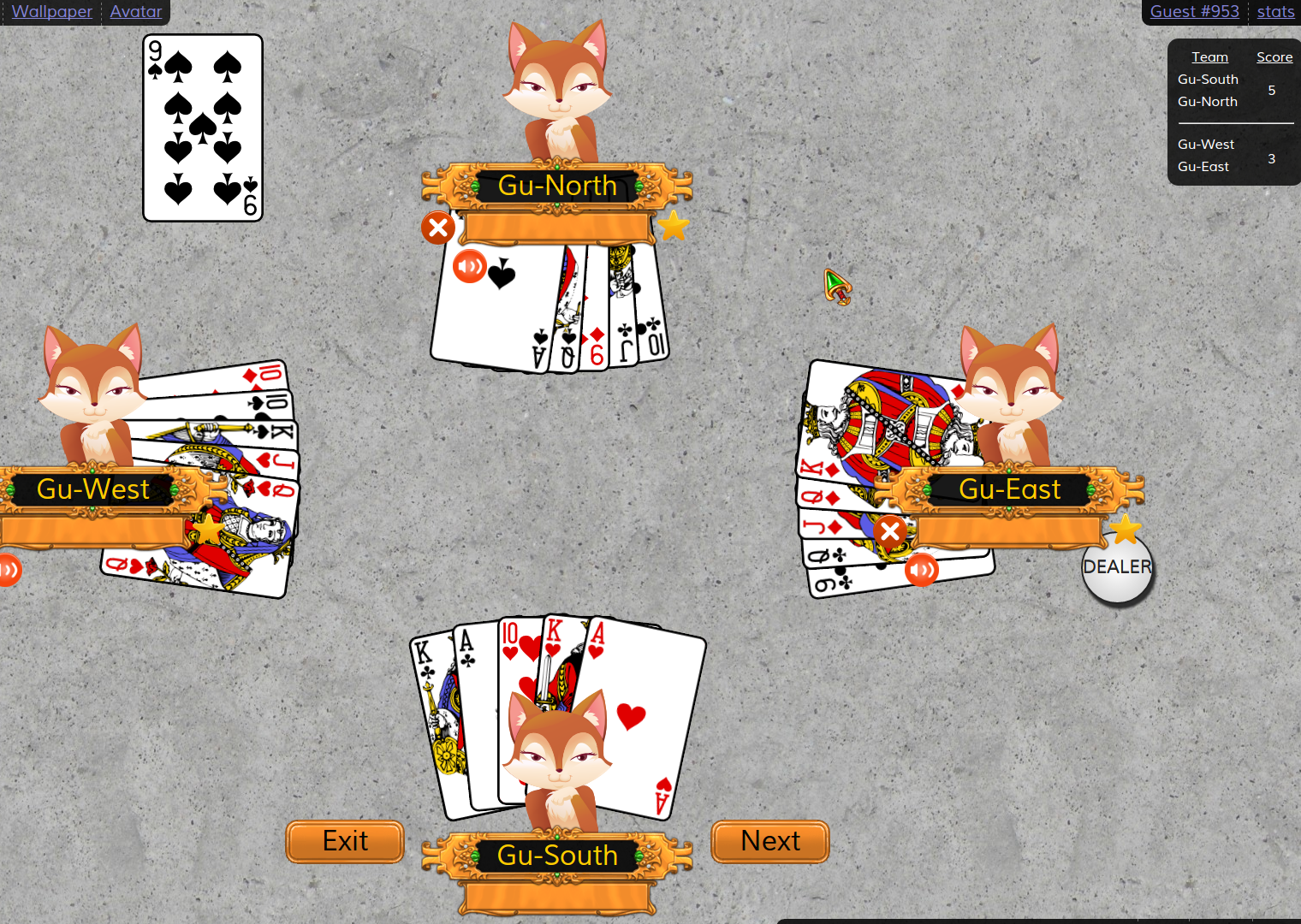 Euchre Next strategy example